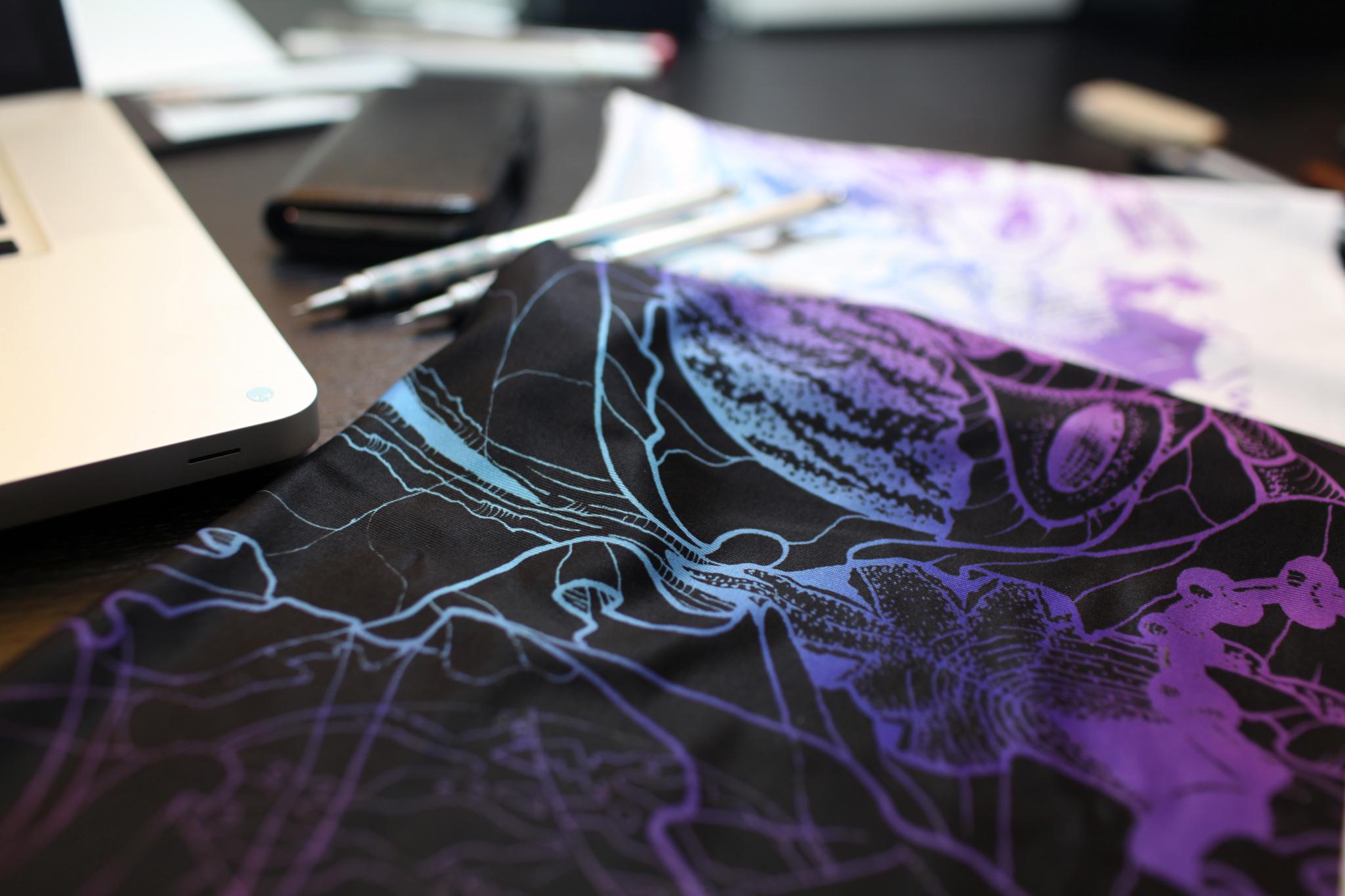 Alien Botany fabric, Zoetica Ebb