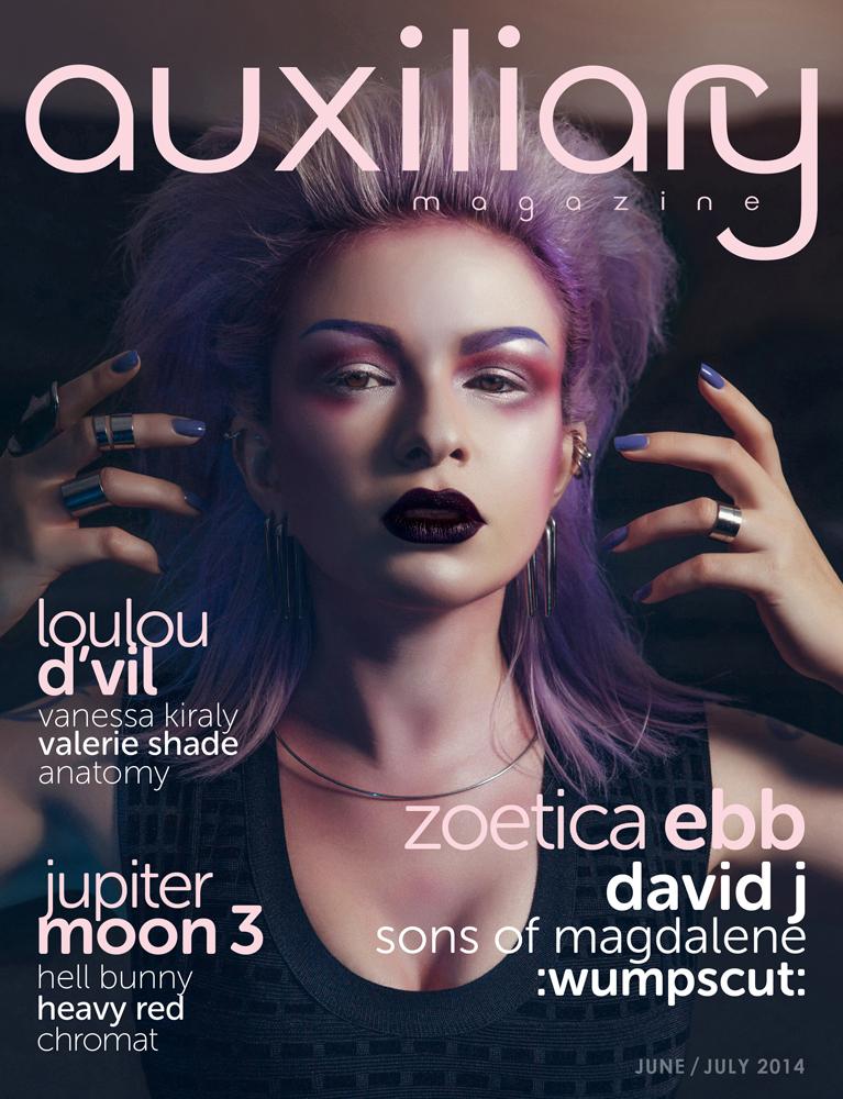 Auxiliary Magazine 34 Cover Story – Zoetica Ebb // Biorequiem.com